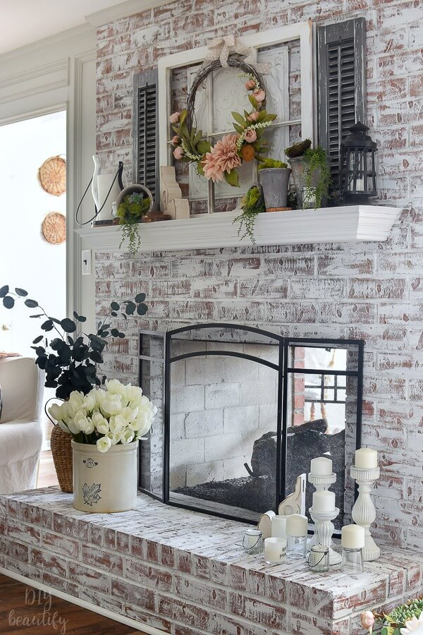 living room Spring decor