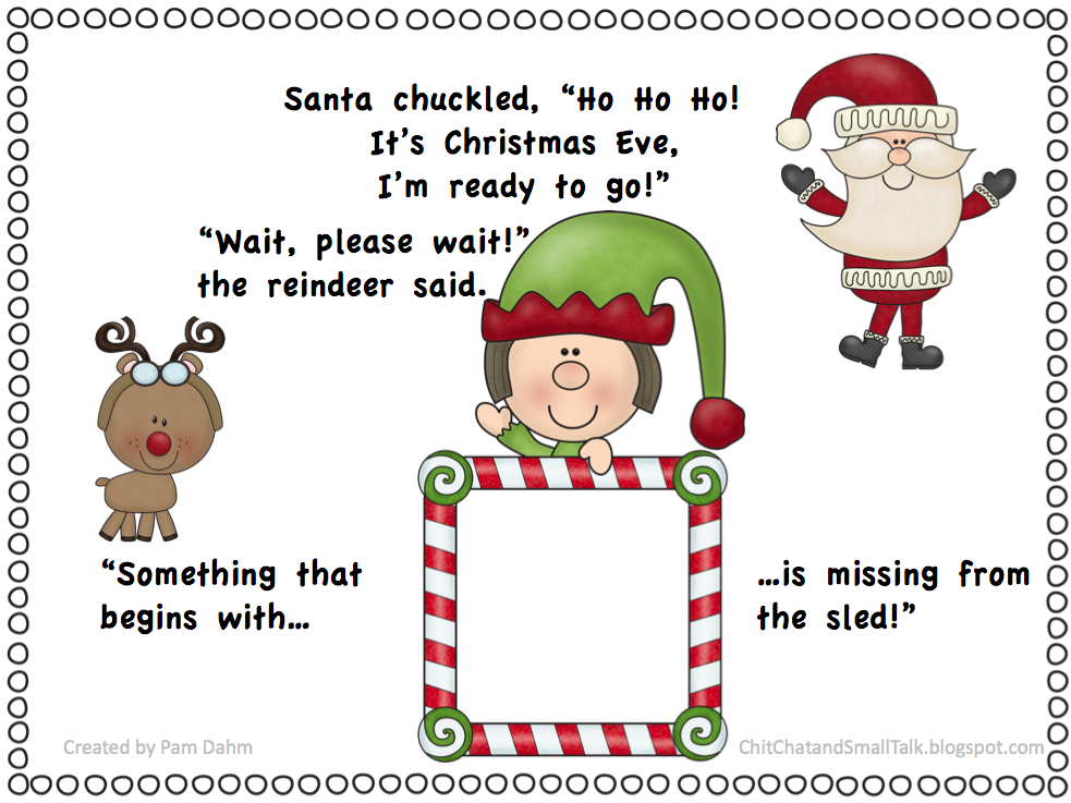 Chit Chat And Small Talk Santas Sled Rhyme
