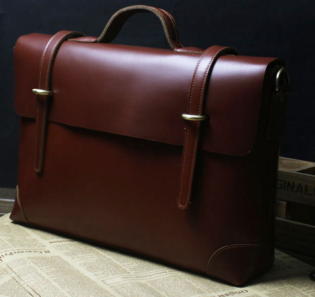 0030fe84d4 Exclusive Genuine Leather Brown Vintage Mens Briefcase Messenger