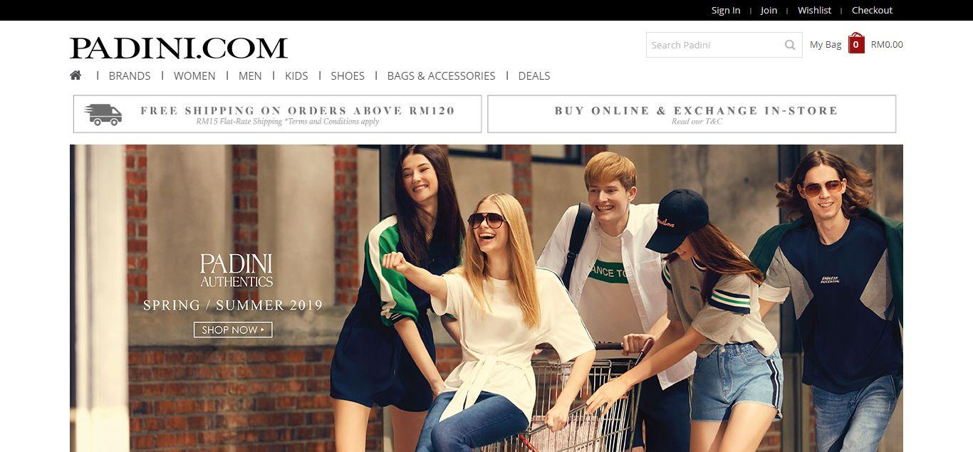 Padini e-commerce