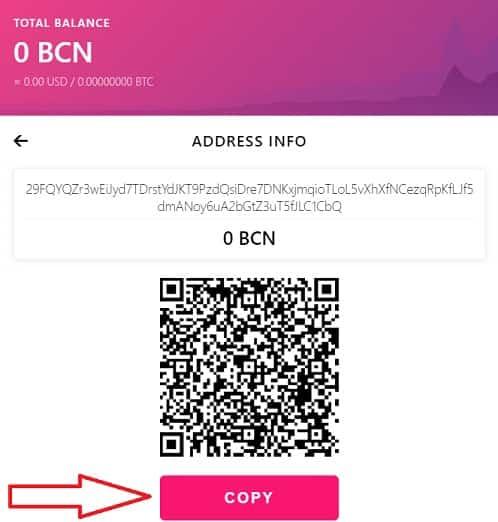 Comprar y Guardar en monedero Bytecoin BCN