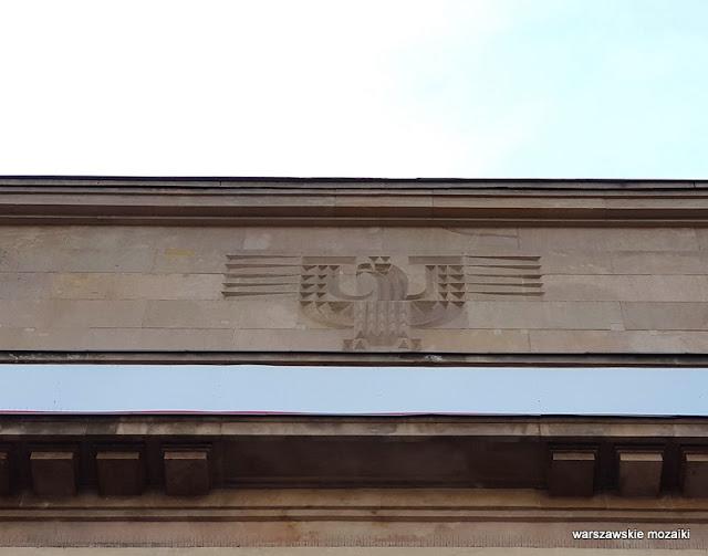 Warszawa Warsaw aleja Szucha 25 Ministerstwo Edukacji Narodowej MEN Zdzisław Mączeński Wojciech Jastrzębowski architektura przedwojenna wnętrza art deco klasycyzm orzeł