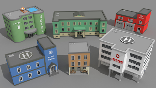 SimplePoly Buildings Low Poly Assets