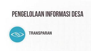Pengelolaan informasi desa yang transparan dan akuntabel