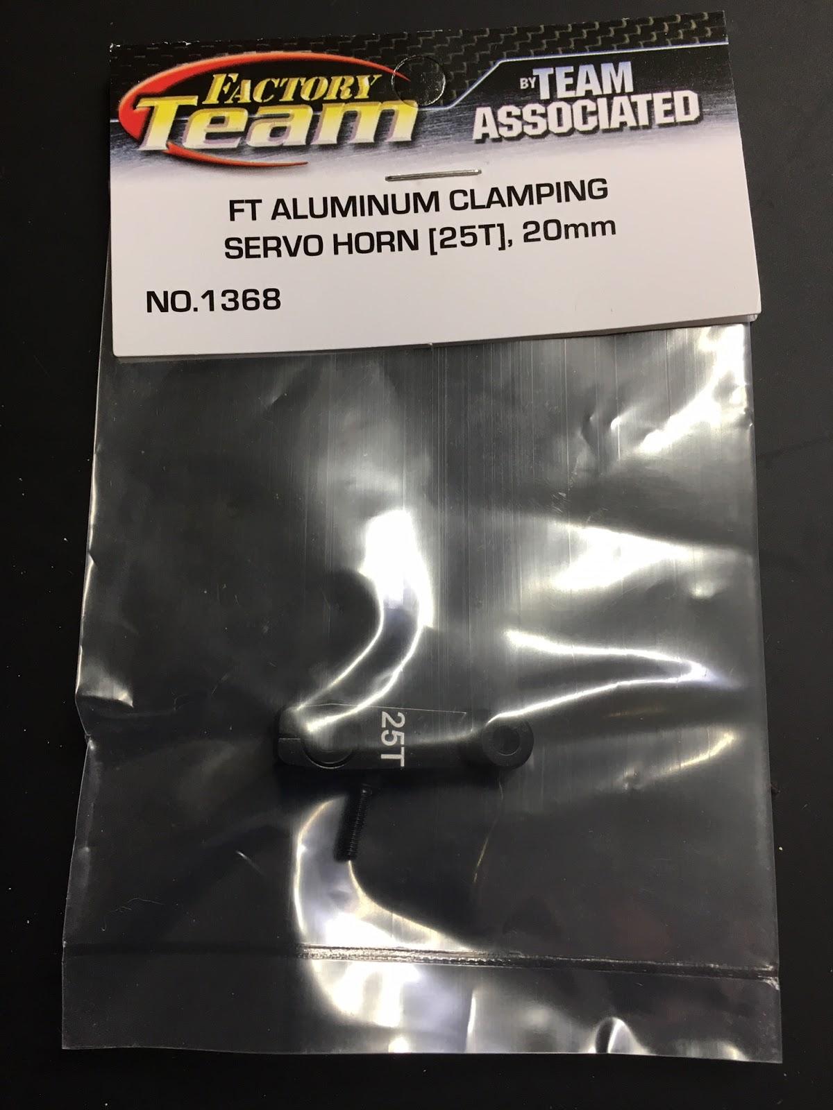 Associated 1368 FT Aluminum Clamping Servo Horn 25T 20 mm
