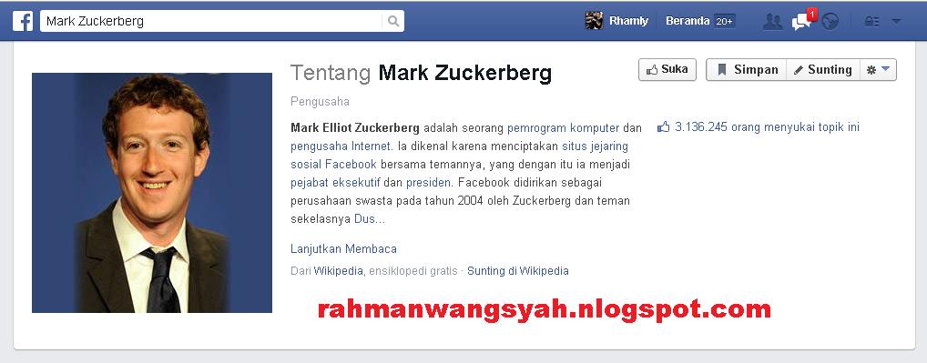Sejarah Facebook : Pendiri Facebook pertama kali yaitu Mark Zuckerberg