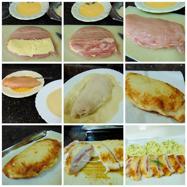 Solomillo de pavo relleno de bacon y queso