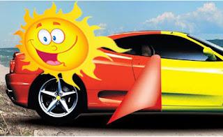 Hindari matahari langsung dari sticker mobil