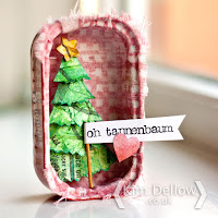 Christmas Tree in a sardine tin tutorial Kim Dellow