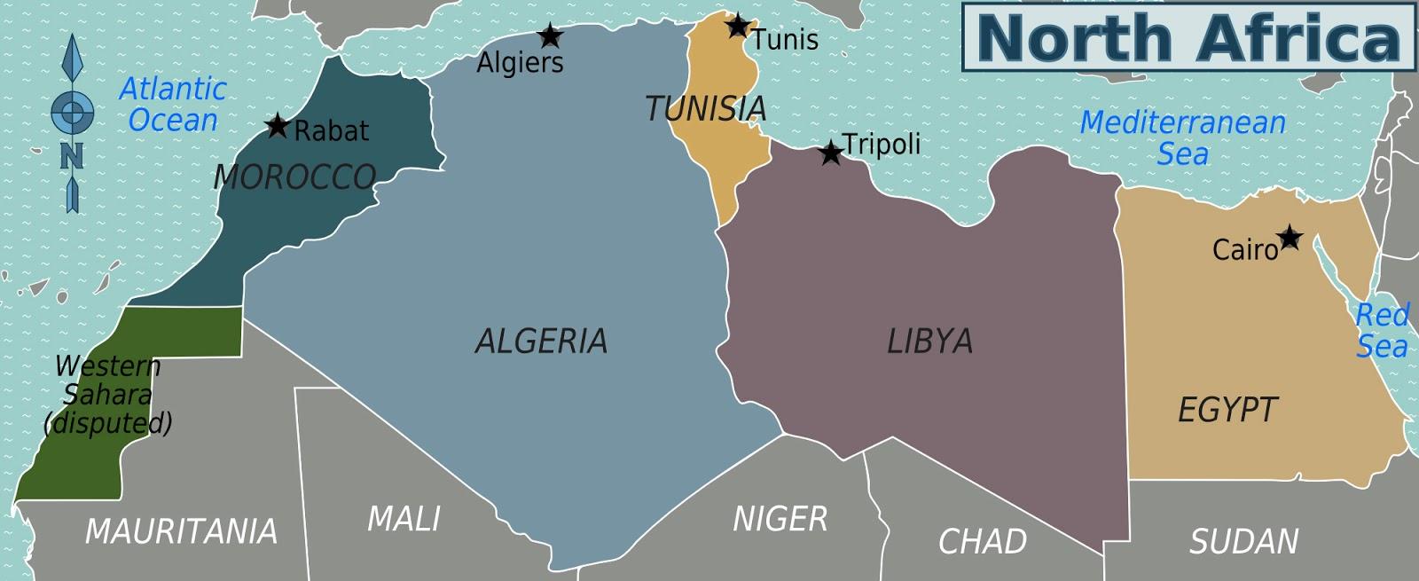 Tunisia Map North Africa - Map of tunisia africa