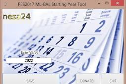 ML-BAL Starting Year Tool 2020 - PES 2017