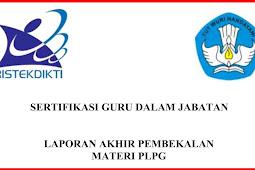 Download Contoh Laporan Akhir Prakondisi PLPG - Sertifikasi Guru
