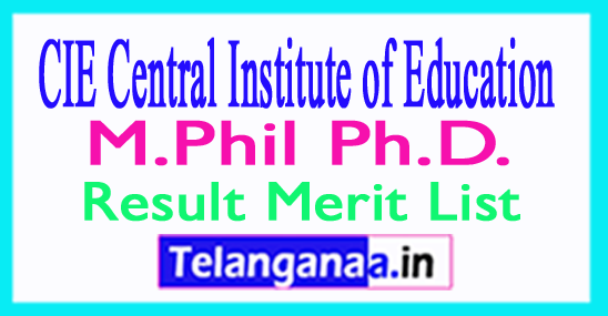 CIE DU M.Phil / Ph.D. Entrance Result 2018 Merit List Download