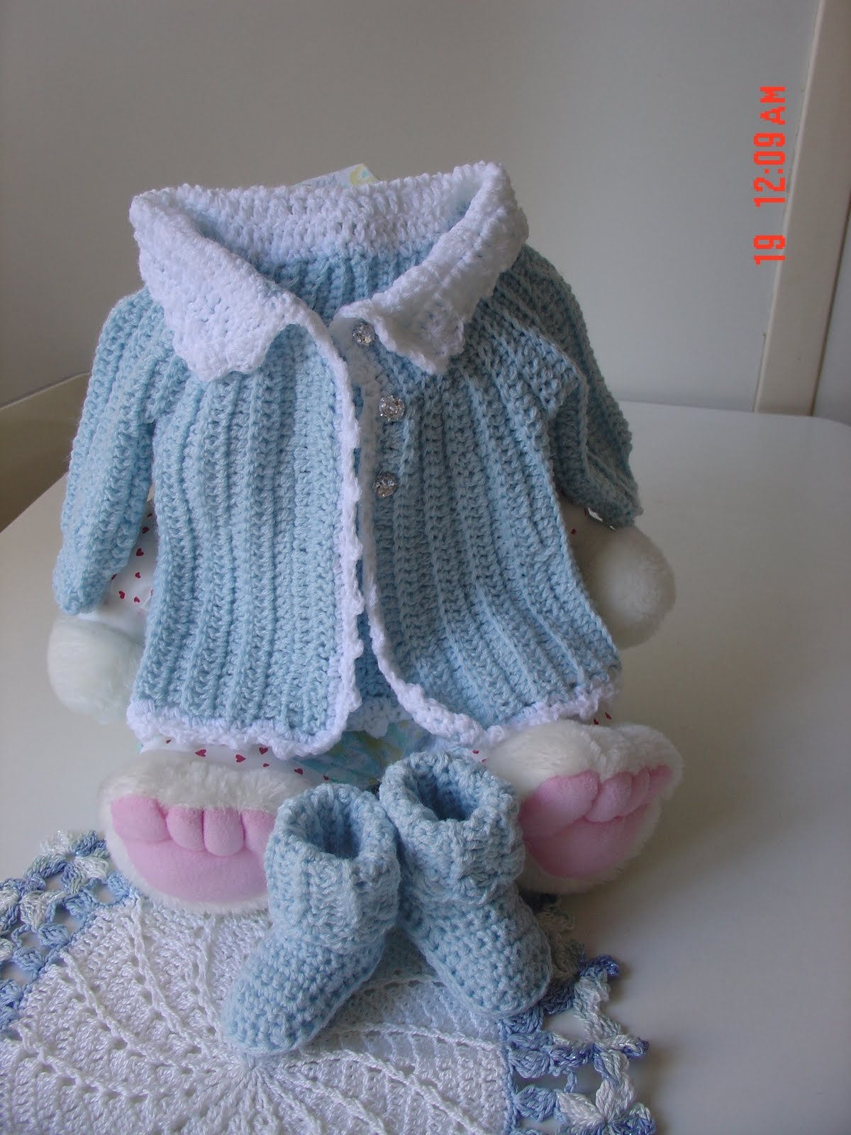 Muriel S Crochet Jacquet And Baby Boots