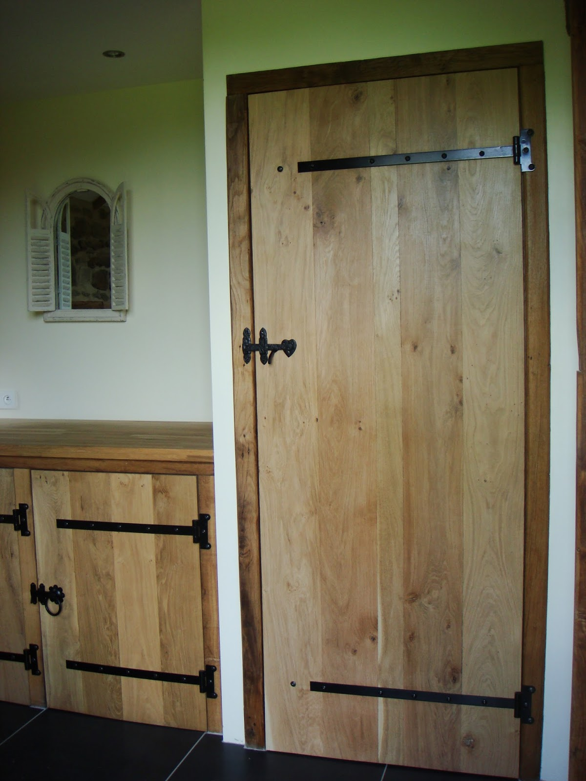 Ledge and brace oak doors - This Is The Same Door From Inside The Bathroom The Ledge And Brace Supports Are Made From Reclaimed Oak Beams Hand Planed So Some Variance Is Support