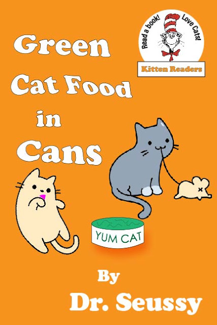 Green cat Food In Cans_spoof cover