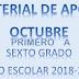 MATERIAL DE APOYO (OCTUBRE) TODOS LOS GRADOS.