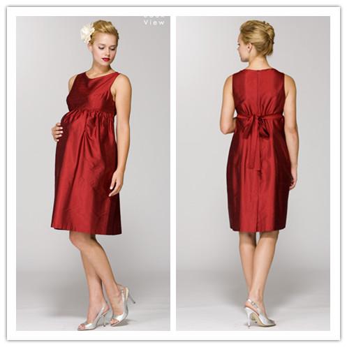 WhiteAzalea Maternity Dresses: Red Maternity Bridesmaid ...