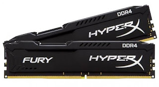 RAM Jenis DDR4 Terbaik 2017 - Kingston HyperX Fury Black 16GB DDR4-2133 - WandiWeb