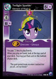 My Little Pony Twilight Sparkle, Element of Magic Canterlot Nights CCG Card