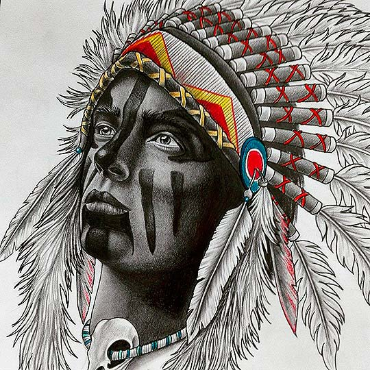 Ilustración y dibujo detallado de Davide MikArt