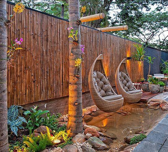 20 Beautiful Garden Landscape With Wooden Retaining Walls