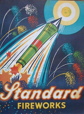 Vintage Fireworks Posters and Labels for The Fourth of July  vintage everyday