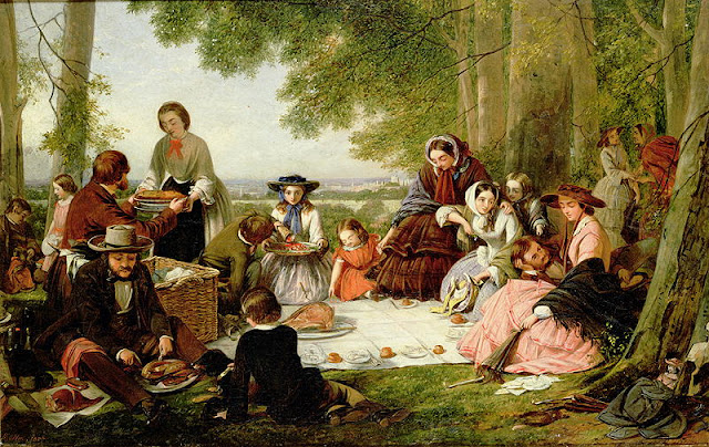 Henry O'Neil. A Picnic, 1857 Civil War Era Picnic