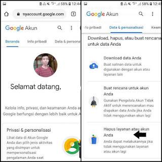 Cara hapus akun google permanen di android dan iphone