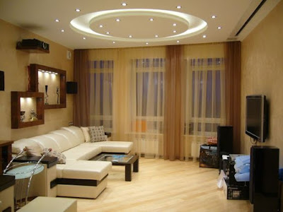 Latest pvc stretch ceiling design ideas for modern living room interior decor 2019