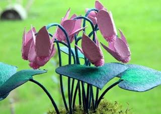 Yumurta Kepinden Çiçek Yapımı