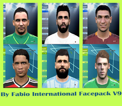 Pes 2016 International Facepack v9 By Fabio