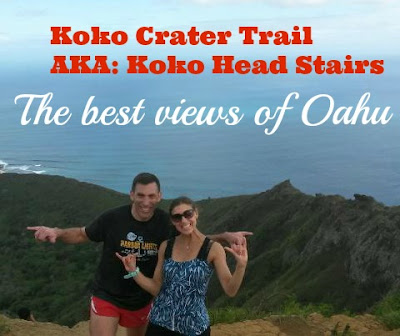 Koko head trail stairs in Oahu Hawaii
