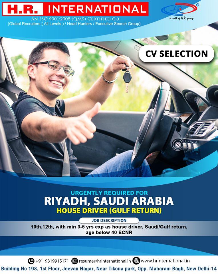 House Driver Gulf Return For Riyadh Saudi Arabia