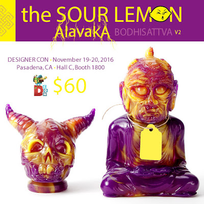 Designer Con 2016 Exclusive The Sour Lemon Alavaka Bodhisattva Vinyl Figure Version 2 by Devils Head Productions