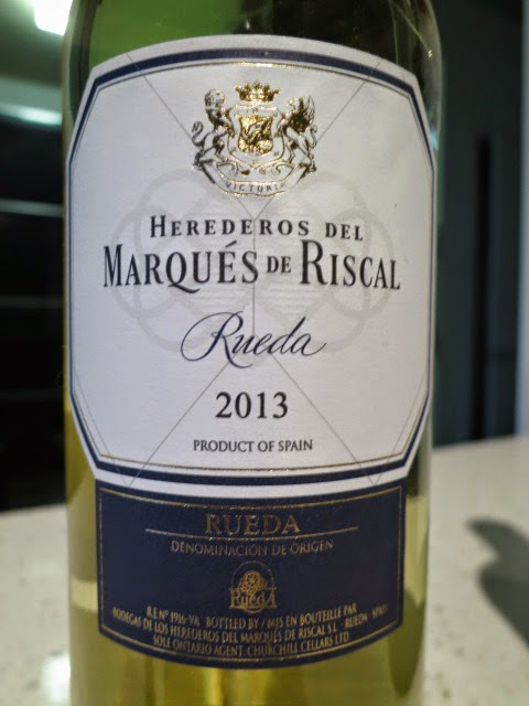 Wine review of 2013 Marqués de Riscal from DO Rueda, Spain