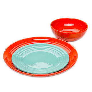 bauer pottery plates and bowls