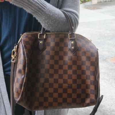 Monogrammed Louis Vuitton Damier Ebene 30 speedy bandouliere | Mica Away From The Blue