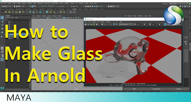Glass material Arnold and Autodesk Maya