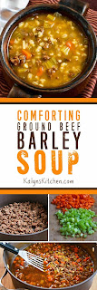 Comforting Ground Beef and Barley Soup [found on KalynsKitchen.com]