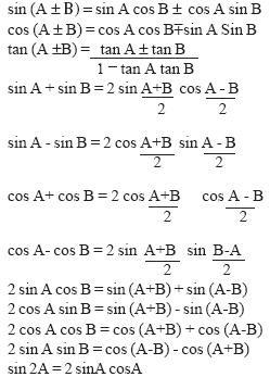 त्रिकोणमिति- Trigonometry Tricks For SSC CGL in