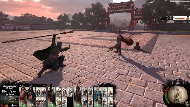 แตกต่างจาก Total War ภาคอื่น ๆ ก็ตรงที่ สามก๊ก Total War : THREE KINGDOMS มีการดวลกันของขุนพลนี่ล่ะ