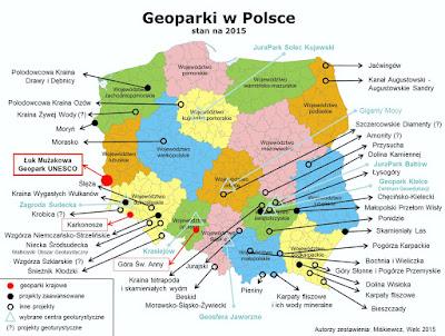 geoparki w Polsce