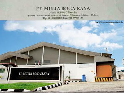 Loker PT Mulia Boga Raya