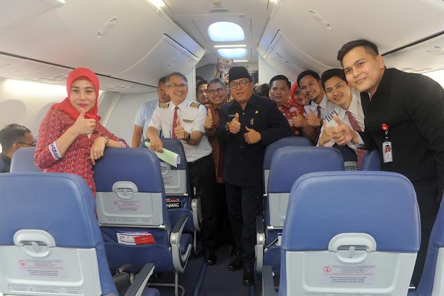 Sekda Sumsel Resmikan Penerbangan Umroh Langsung Palembang-Jeddah