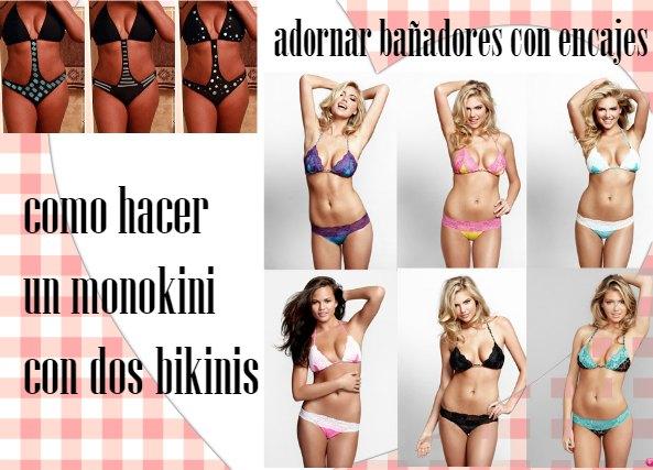 Como hacer monokinis y bikinis con encajes