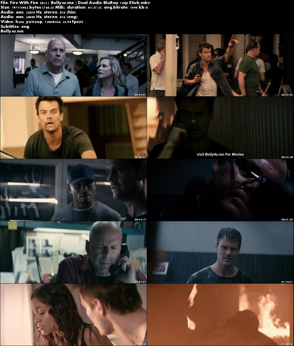 Fire With Fire 2012 BluRay 300MB Hindi Dual Audio 480p ESub Download