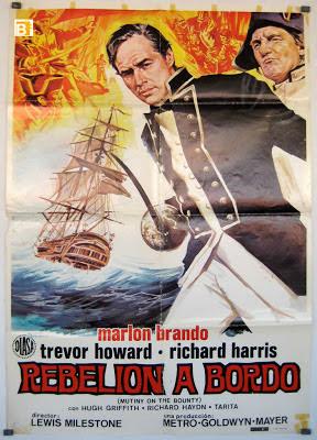 Rebelión abordo, Motin a bordo, cartel cine, Bounty, vuelta al mundo, round the world, La vuelta al mundo de Asun y Ricardo