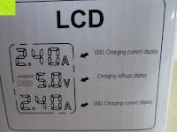 Erklärung: [Smart Port & LCD Bildschirm] aLLreLi 24W (5V 4,8A) 2-Port USB Reiseladegerät Kit mit austauschbarem (EU,UK,US,UK) Stecker - [Universal] Ladegerät für Smartphones & Tablets (z.B. iPhone 6S / 6 Plus / 5S / 5C / 4S, iPad Air 2 / Mini 3 / 4, Samsung Galaxy S6 Edge / S5 / S4 / S3, Note 5 / 4 / 3 / 2, Galaxy Tab 3 / 2, HTC One M9 / M8, Google Nexus 5 / 7 / 10) [Farbe: Weiß]