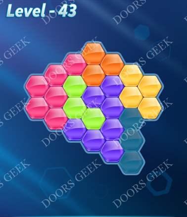 Block! Hexa Puzzle [6 Mania] Level 43 Solution, Cheats, Walkthrough for android, iphone, ipad, ipod